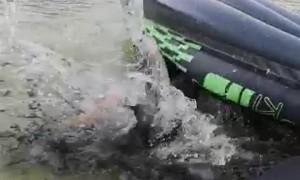 Kayak Handstand Ends Hilariously