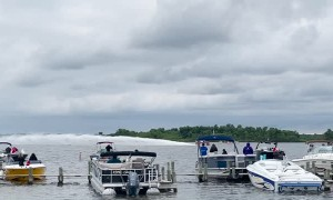 Farm Truck Converted into Racing Boat at Blarney Island