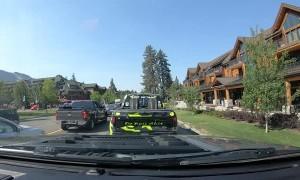 Naked Dude Crosses Road in South Lake Tahoe