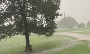 Surprise Lightning Strike Close Call