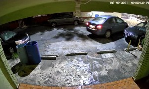 Car Gets Bumper Bumped