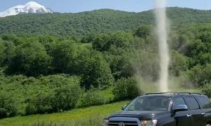 Dust Devil Provides Extra Scenic Value For Roadside Stop