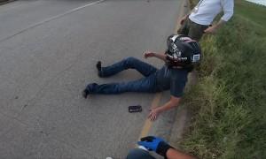 Brake Mishap Causes Motorcycle Front Flip