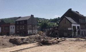 Aftermath of Flooding in Pepinster