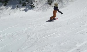 9-Year-Old Snowboarder Stomps 720