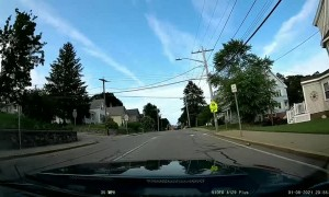 Kid Hits Car with Big Rock While Driving By