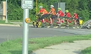Family of Six Ride Custom Bike