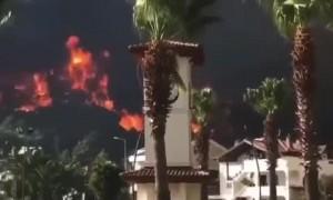 Horrific footage of raging fires in Marmaris, Turkey