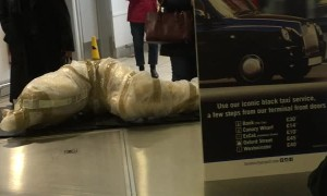 Mannequin Lamp Raises Eyebrows at Baggage Claim