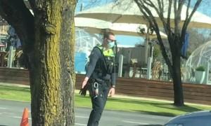 Dancing Cop Entertains Aussie Drivers During Lockdown