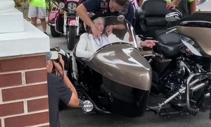 100-Year-Old Birthday Ride With Bikers Club