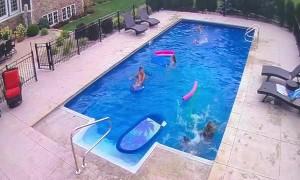 Pool Float Faceplant