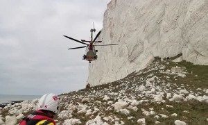 Injured Climber Rescued via Helicopter