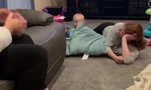 Pillow Fight has Baby Belling Laughing