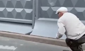 73-year-old man rides his board since 1981