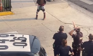 Man Prances Into Handcuffs