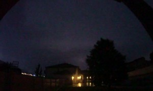Powerful Lightning Storm Captured in Slow Motion