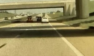 Reckless Driver Enters Highway from Hillside