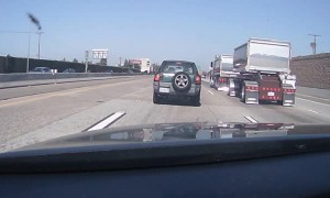 Van Loses Control and Flips on Highway