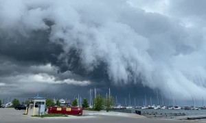 Time Lapsed Storm Rolls Over Lake Michigan