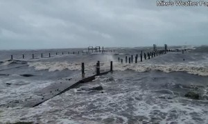 Drone Footage of Tropical Storm Fred in Florida