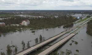 Panoramic View of Flooding in LaPlace