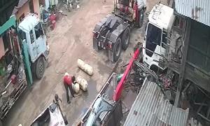 Gas Tank Shoots Through House Walls