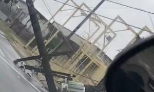 Massive powerline damage from Hurricane Ida in Baton Rouge