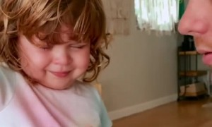 Little girl shows how brave she is during her surgery