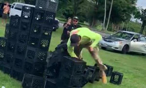 Milk Crate Challenge Ends in Faceplant
