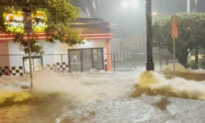 Flood in Paterson, New Jersey