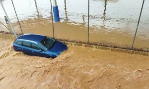 Super Floods Wash Away Cars in Spain