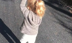 Daddy Becomes Pack Horse During Walk With Daughter