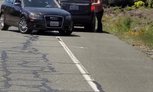 Roadside Altercation Leads to Man Fleeing from Pursuing Car