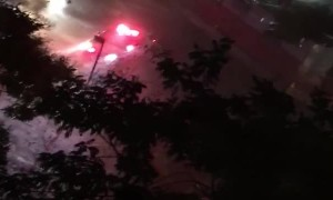 Firefighters Rescue People from Flooded Street in The Bronx