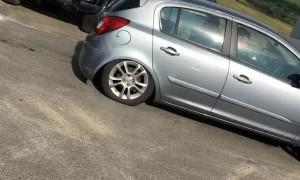 Driver Makes Corsa Bunny Hop