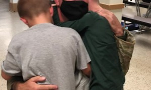 U.S. Army Reserves Sergeant Surprises Boys with Homecoming