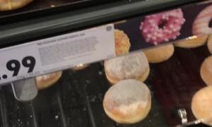 Small Bug Peruses Donut Selection