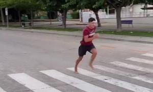 Barefoot Runners Test Car Speedometer