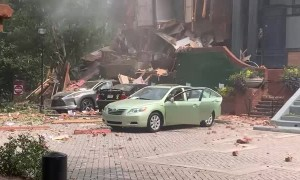 Apartment Explosion Aftermath in Dunwoody Georgia