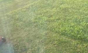 Hoverboard Hack Makes Lawn Mowing Easier