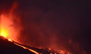 Spanish island volcano erupts for first time in 30 years