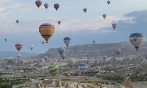 Hot Air Balloons Over Beautiful Cappadocia, Turkey