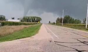 Tornado Begins Forming Over Fields