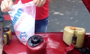 Cooling an Old Fiat with Ice Cubes