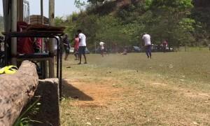 Man Smashes Hornets Nest During Soccer Warm Up