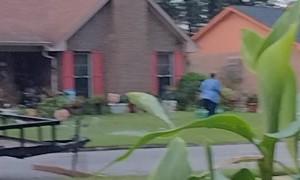 Men Offer Commentary While Neighbors Make a Scene