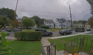 Car Flips on Quiet Street