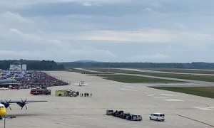 Blue Angel Sneak Pass at Maine Airshow