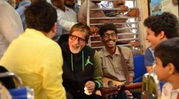 Watch Big B Amitabh Bachchan travels in Mumbai local train, sings for commuters
